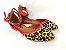 Sapatilha Onça com Vermelho Atrás com Fivela no Tornozelo - Imagem 2