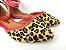 Sapatilha Onça com Vermelho Atrás com Fivela no Tornozelo - Imagem 3