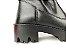Bota Cano Curto Premium Preta com Cordão e Zíper Lateral Solado Tratorado - Imagem 10