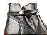 Bota Cano Curto Premium Preta com Cordão e Zíper Lateral Solado Tratorado - Imagem 8