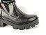 Bota Cano Curto Premium Preta com Cordão e Zíper Lateral Solado Tratorado - Imagem 9