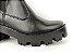 Bota Cano Curto Premium Preta com Elástico Calça Fácil Solado Tratorado - Imagem 9