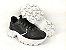 Tênis Chunky Sneaker Energy Preto com Prata - Imagem 6