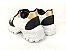 Tênis Chunky Sneaker Energy Branco com Preto e Bronze - Imagem 6