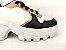 Tênis Chunky Sneaker Energy Branco com Preto e Bronze - Imagem 7