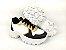 Tênis Chunky Sneaker Energy Branco com Preto e Bronze - Imagem 5