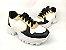 Tênis Chunky Sneaker Energy Branco com Preto e Bronze - Imagem 4