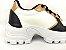 Tênis Chunky Sneaker Energy Branco com Preto e Bronze - Imagem 3
