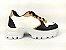Tênis Chunky Sneaker Energy Branco com Preto e Bronze - Imagem 1