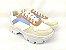 Tênis Chunky Sneaker Energy Branco Off White Acqua Tons Pasteis - Imagem 1