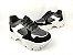 Tênis Chunky Sneaker Energy Preto com Prata e Branco - Imagem 4