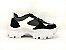 Tênis Chunky Sneaker Energy Preto com Prata e Branco - Imagem 2