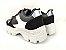 Tênis Chunky Sneaker Energy Preto com Prata e Branco - Imagem 5