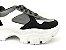 Tênis Chunky Sneaker Energy Preto com Prata e Branco - Imagem 7