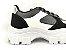 Tênis Chunky Sneaker Energy Preto com Prata e Branco - Imagem 3