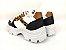 Tênis Chunky Sneaker Energy Branco Onça com Preto - Imagem 5