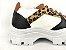 Tênis Chunky Sneaker Energy Branco Onça com Preto - Imagem 4