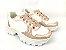 Tênis Chunky Sneaker Energy Branco com Rosê Gold - Imagem 1