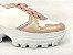 Tênis Chunky Sneaker Energy Branco com Rosê Gold - Imagem 3