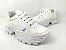 Tênis Chunky Sneaker Energy Branco com Prata - Imagem 5