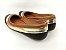 Sapatilha Preta Ouro com Caramelo Bico Redondo - Imagem 5