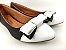 Sapatilha Preta com Branco Laço - Imagem 4