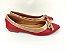 Sapatilha Vermelha com Nude Lacinho - Imagem 6