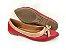 Sapatilha Vermelha com Nude Lacinho - Imagem 3