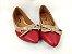 Sapatilha Vermelha com Nude Lacinho - Imagem 2