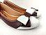 Sapatilha Marsala com Branco Laço Médio - Imagem 3