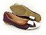 Sapatilha Marsala com Branco Laço Médio - Imagem 4