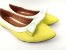 Sapatilha Amarela com Branco Lacinho - Imagem 3