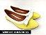 Sapatilha Amarela com Branco Lacinho - Imagem 1
