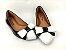 Sapatilha Preta em Verniz com Laço Branco - Imagem 2