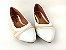 Sapatilha Têxtil Rosê com Bege Bico Branco - Imagem 4