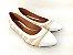 Sapatilha Têxtil Rosê com Bege Bico Branco - Imagem 1