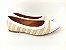 Sapatilha Têxtil Rosê com Bege Bico Branco - Imagem 5