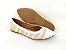 Sapatilha Têxtil Rosê com Bege Bico Branco - Imagem 7