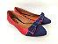 Sapatilha Vermelha com Jeans Laço Pequeno - Imagem 1