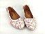 Sapatilha Florida Rosa em Têxtil Estampada Laço Atrás - Imagem 5