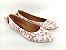 Sapatilha Florida Rosa em Têxtil Estampada Laço Atrás - Imagem 1