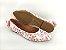 Sapatilha Florida Rosa em Têxtil Estampada Laço Atrás - Imagem 3