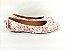 Sapatilha Florida Rosa em Têxtil Estampada Laço Atrás - Imagem 6