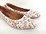 Sapatilha Florida Rosa em Têxtil Estampada Laço Atrás - Imagem 4