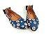 Sapatilha Pet Cachorrinho Azul em Têxtil Estampada Laço Atrás - Imagem 5