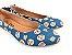 Sapatilha Pet Cachorrinho Azul em Têxtil Estampada Laço Atrás - Imagem 3