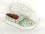 Tênis Slip On Iate Florido Verde em Têxtil Estampado - Imagem 3