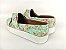 Tênis Slip On Iate Florido Verde em Têxtil Estampado - Imagem 4