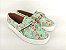 Tênis Slip On Iate Florido Verde em Têxtil Estampado - Imagem 2