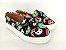 Tênis Slip On Iate Pet Gatinho Preto em Têxtil Estampado - Imagem 1